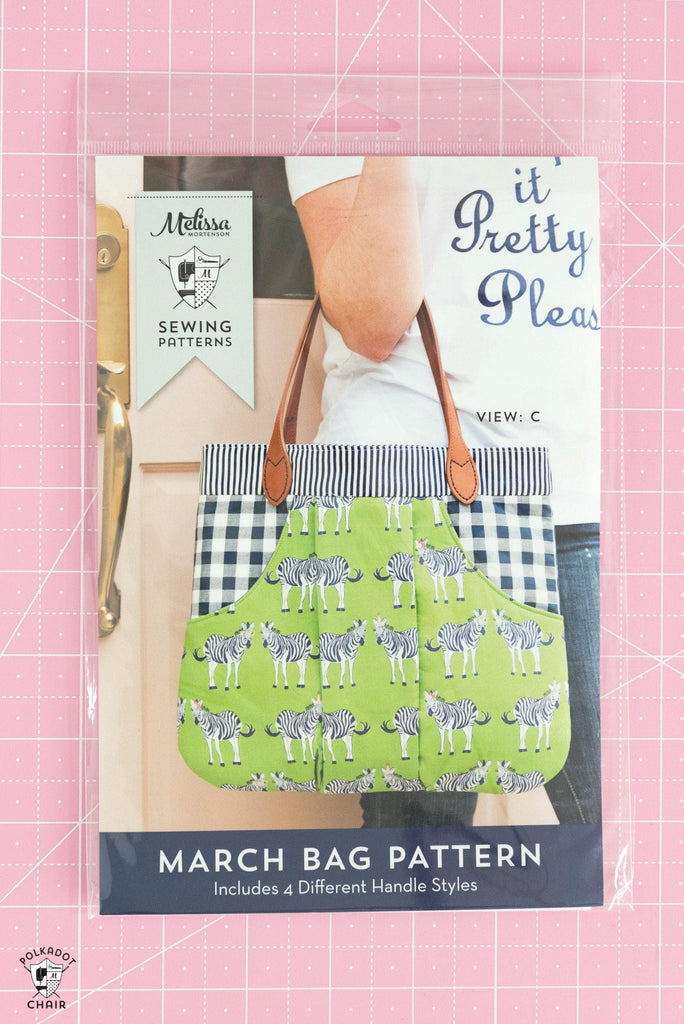 March Bag Sewing Pattern | Printed Pattern - Polka Dot Chair Patterns by Melissa Mortenson