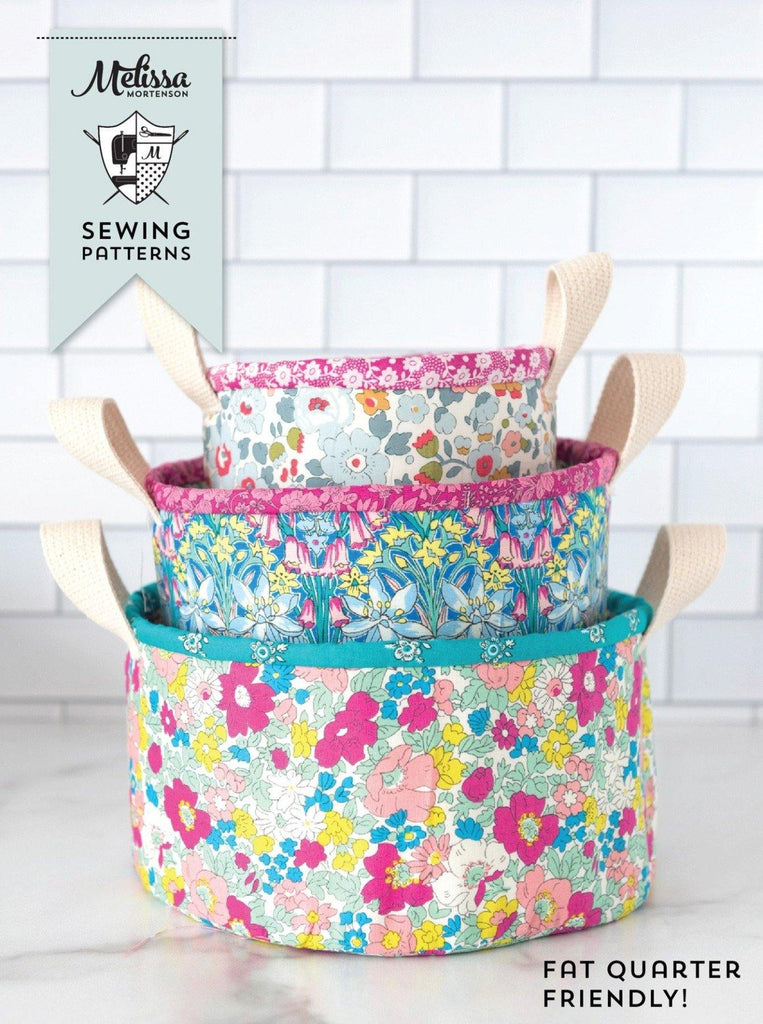 Nesting Trinket Baskets | PRINTED Sewing Pattern - Polka Dot Chair Patterns by Melissa Mortenson