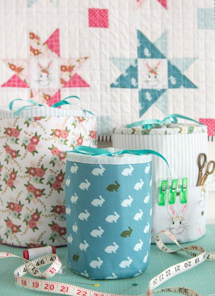 Padded Storage Bins/Bucket Sewing Pattern (with Holiday version)| Digital PDF Pattern