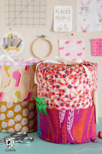 Padded Storage Bins- PRINTED PATTERN
