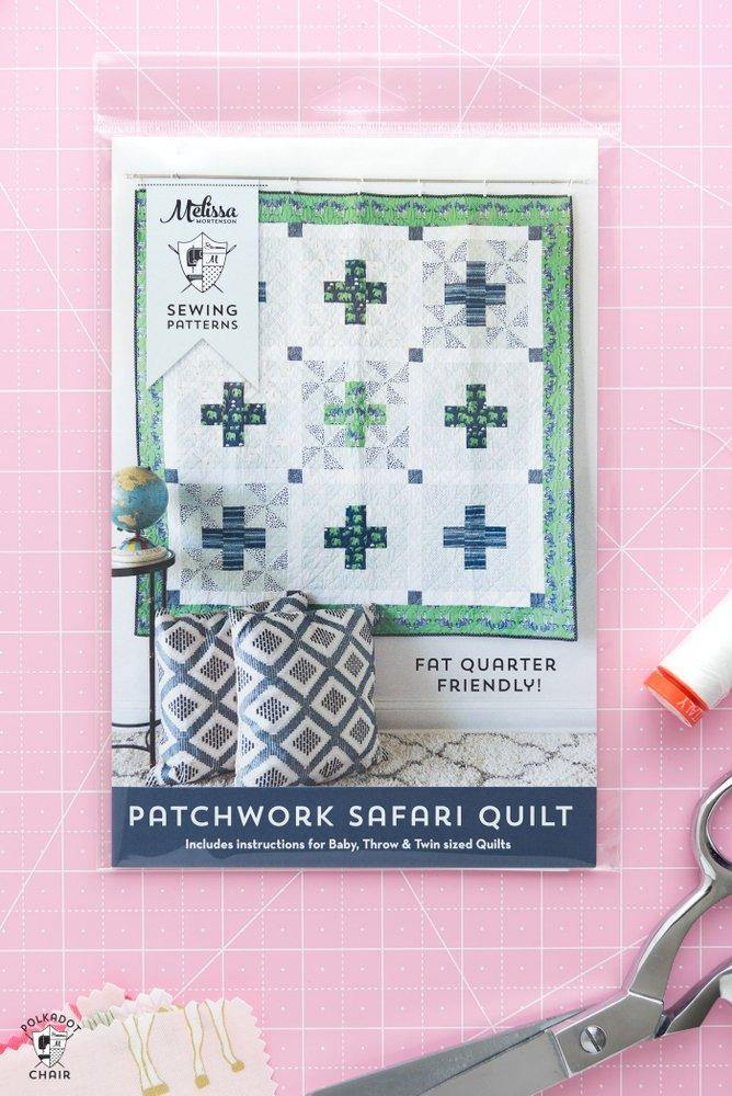 Patchwork Safari Quilt Pattern (in 3 sizes) | Printed Pattern