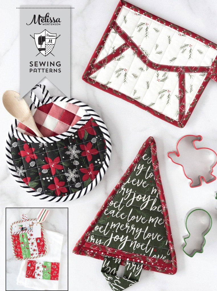 Quilted Potholder Parade Sewing Pattern with Holiday Version | Digital PDF - Polka Dot Chair Patterns by Melissa Mortenson