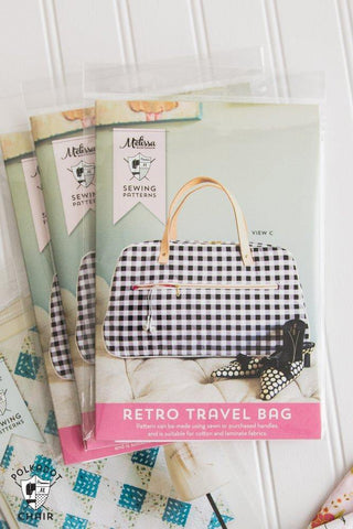 Retro Travel Bag - Printed Pattern