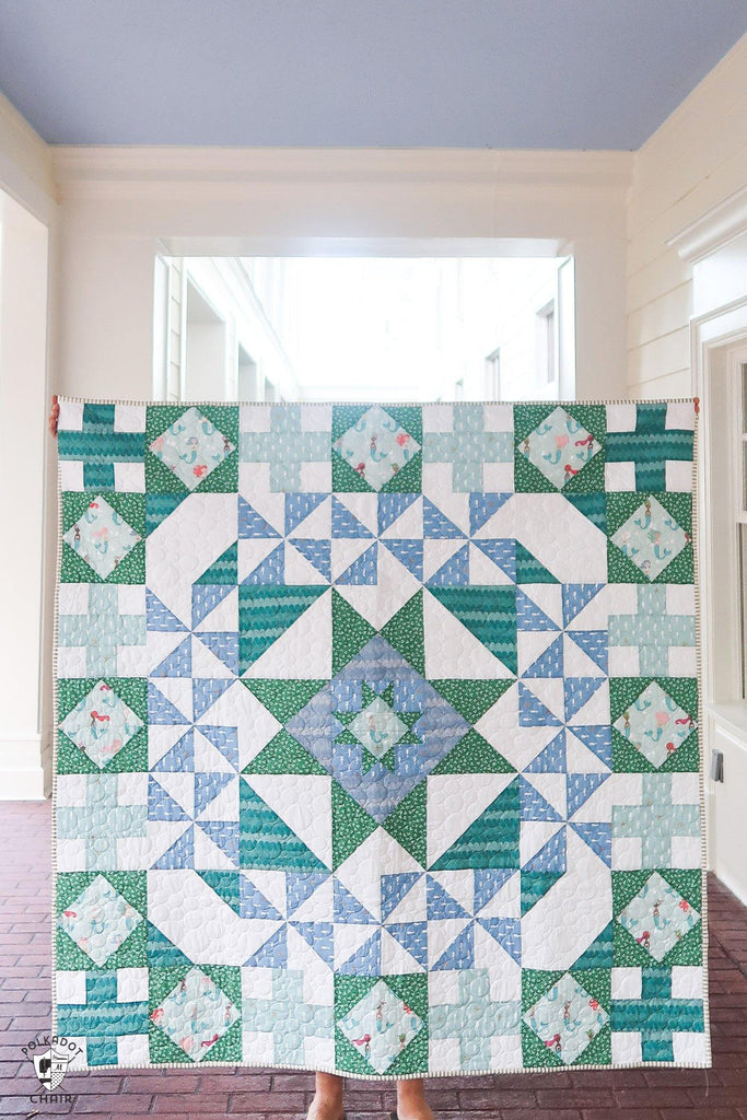 Patchwork Paddock Quilt | Printed Pattern - Polka Dot Chair Patterns by Melissa Mortenson