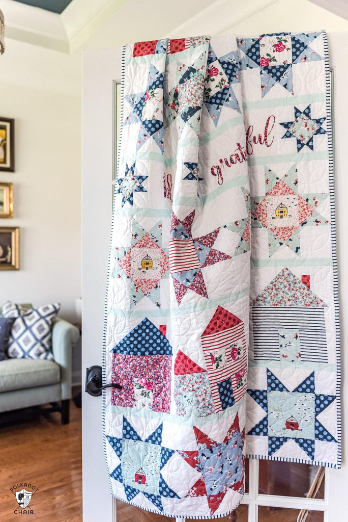 Let's Stay Home Quilt Pattern | Printed Pattern - Polka Dot Chair Patterns by Melissa Mortenson