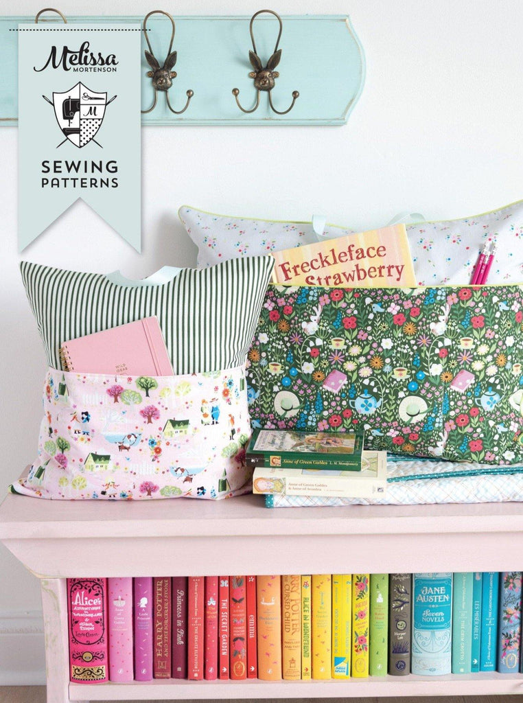 Reading Pillow / Pocket Book Pillow Pattern Bundle in Two Sizes | Digital PDF Pattern - Polka Dot Chair Patterns by Melissa Mortenson