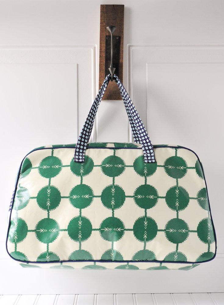 Retro Travel Bag Sewing Pattern | Digital PDF Pattern