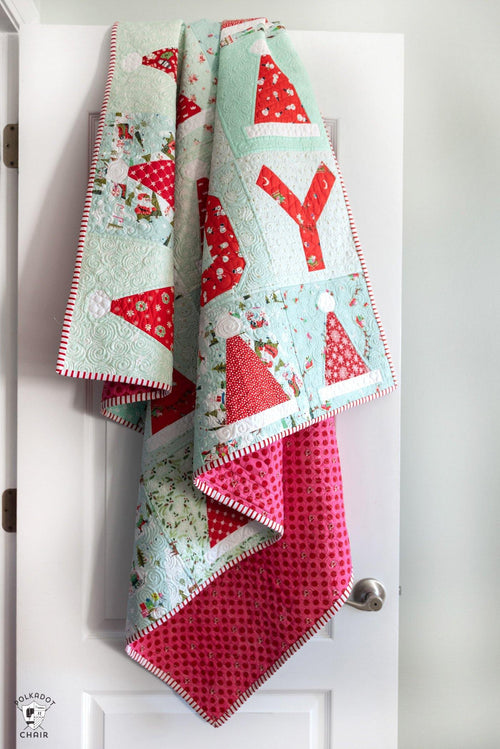 Santa's Hat Shop Christmas Quilt | PRINTED Quilt Pattern