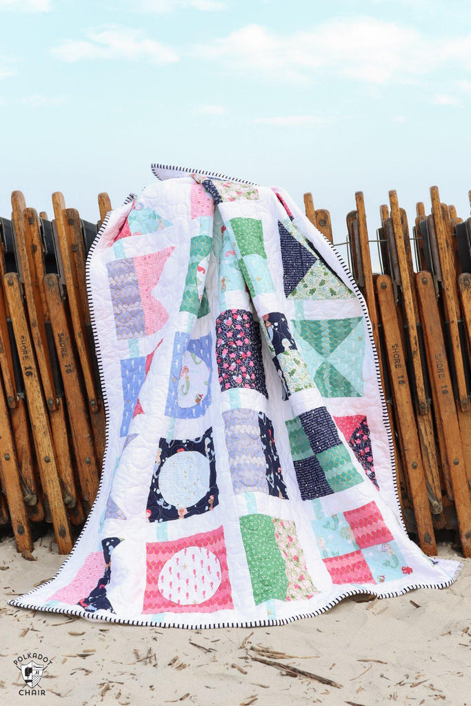 Seas the Day Quilt Pattern  | PRINTED Pattern - Polka Dot Chair Patterns by Melissa Mortenson