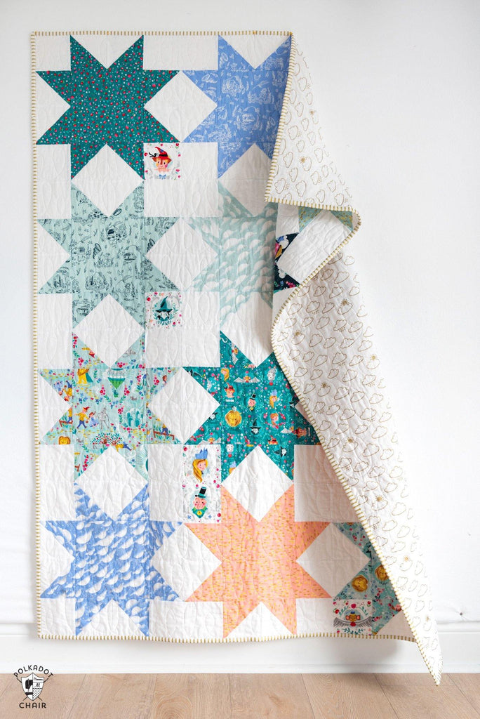 Sawtooth Star Quilt Pattern | Digital PDF Pattern - Polka Dot Chair Patterns by Melissa Mortenson