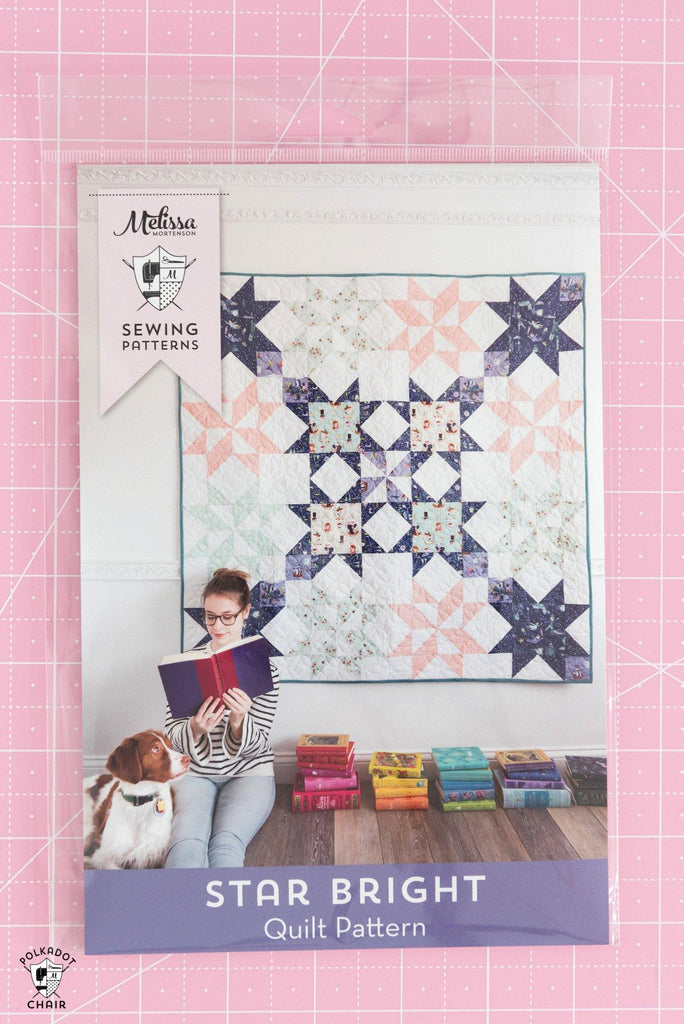Star Bright Quilt | Printed Pattern - Polka Dot Chair Patterns by Melissa Mortenson