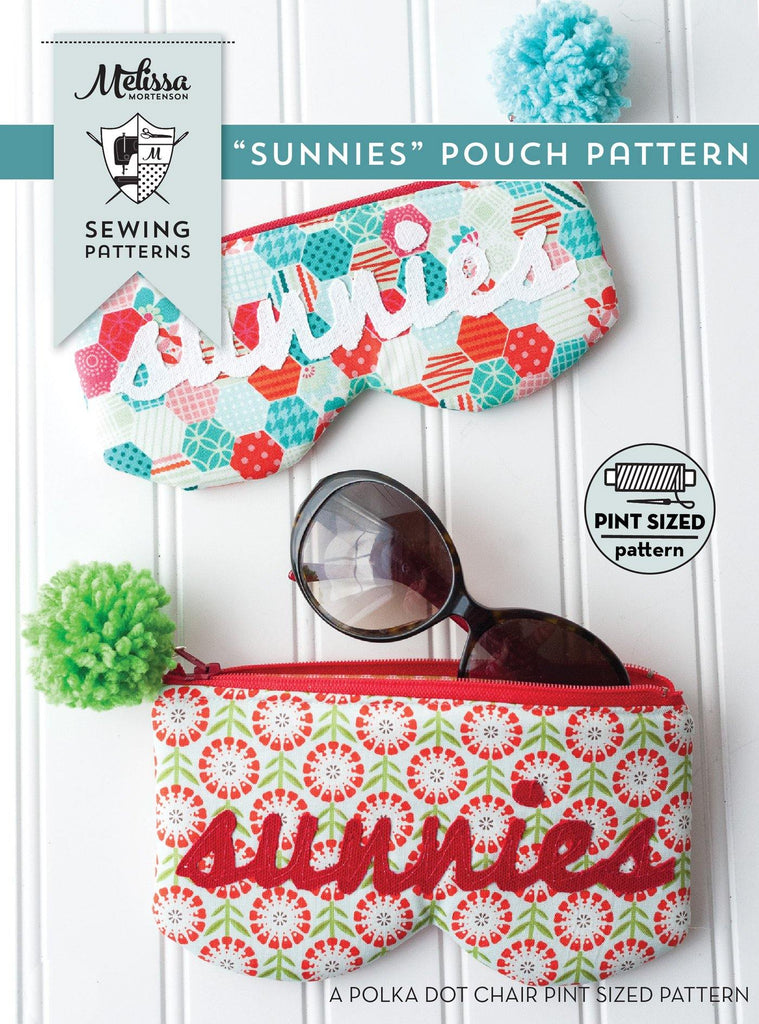 Sunnies Sunglasses Case Bag Sewing Pattern | Digital PDF Pattern. - Polka Dot Chair Patterns by Melissa Mortenson