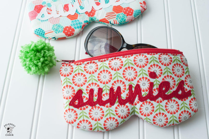 Sunnies Sunglasses Case Bag Sewing Pattern | Digital PDF Pattern.