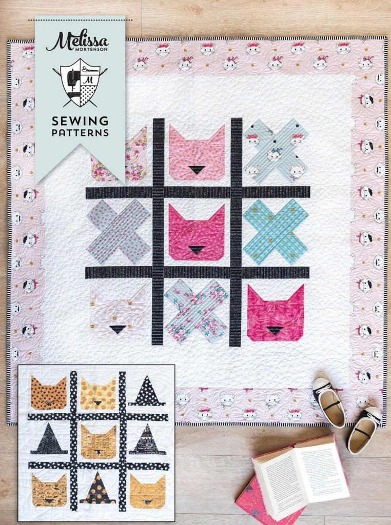 Tic Tac Cat | Digital PDF Quilt Pattern