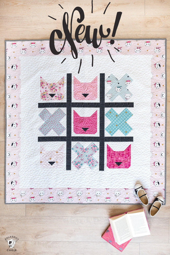 Tic Tac Cat | PRINTED Quilt Pattern with Holiday Version