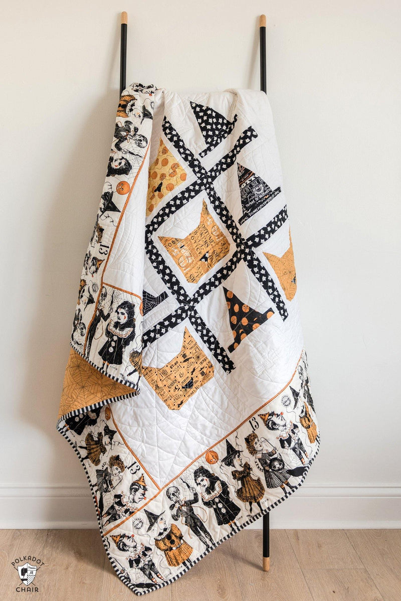 Tic Tac Cat | Digital PDF Quilt Pattern with Holiday Version
