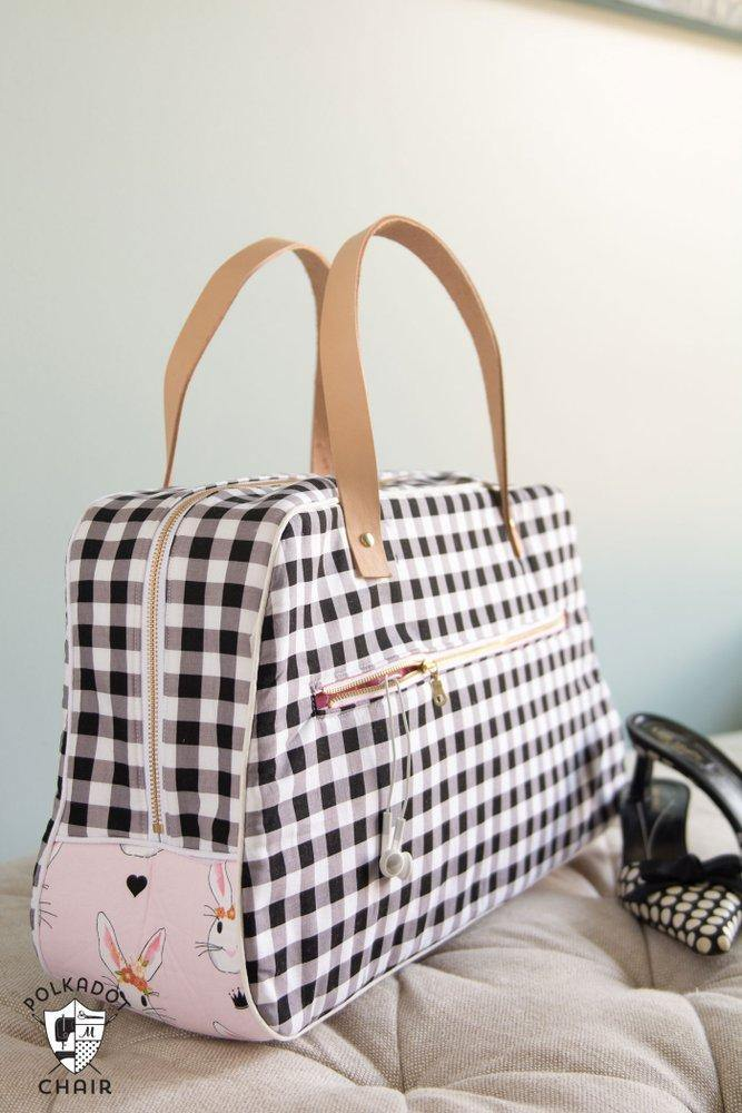 Retro Travel Bag Sewing Pattern PDF – Polka Dot Chair