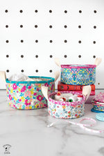 Nesting Trinket Baskets | Digital PDF Sewing Pattern