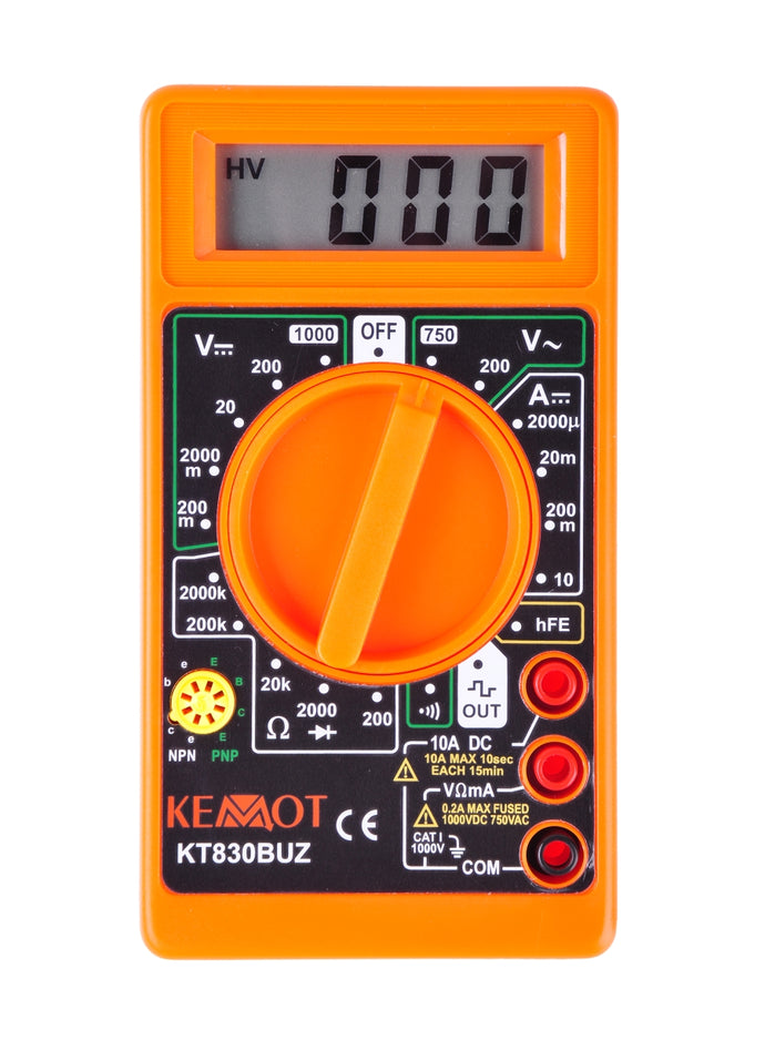 Digitale multimeter KEMOT KT830BUZ + kabels