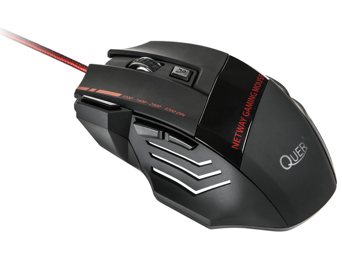 3200 DPI Optical Pro Gaming Mouse Mice 4 DPI Modes 7 Buttons Ergonomic Shape