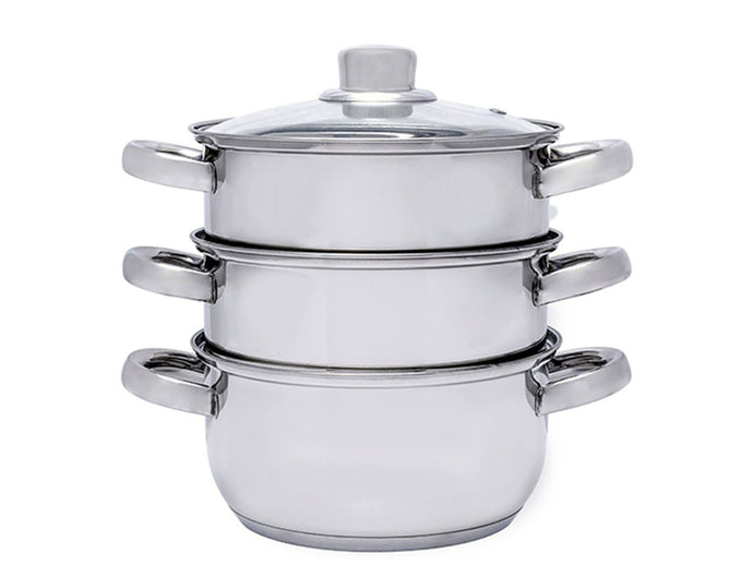 3-Tier INOX Stainless Steel Steamer Cooking Pot
