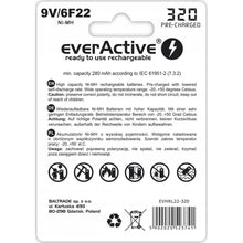 Battery R-9V everActive 6F22 / 9V Ni-MH 320 mAh