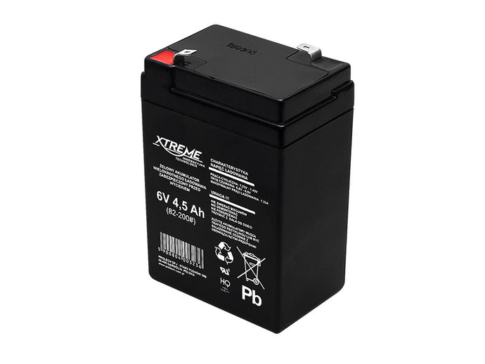 Gel Battery AGM Battery 6V 4.5Ah 4.5 Ah Replacement Battery XTREME Maintenance-free