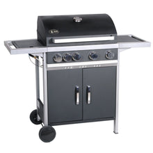 Barbecue Gas Grill 4 Burners + Burner Side Steel NEVADA 11.2 + 2.8 kW