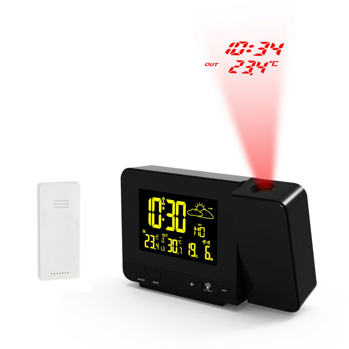 Alarm clock Calendar Thermometer Two Colours Black And White