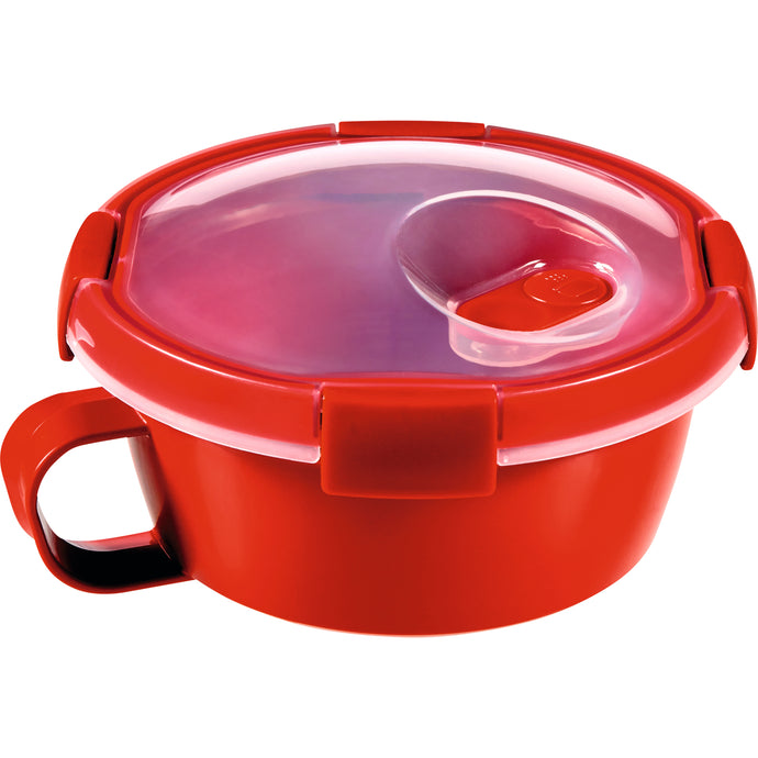 Curver Microwave soup container, mug, bowl 0.6l red
