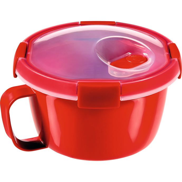 Curver Microwave soup or noodles container, bowl, 0.9l, red