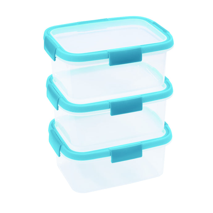 A set of food containers microwave freezer takeaway BPA-free 3 big pioeces