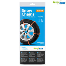 Chains snow spikes Greenblue GB134, 100% nylon PA66, double clasp, 10 pcs