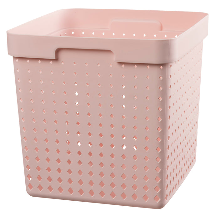 Plast Team Seoul Opbergbox Container Mand Opbergdoos Decobox Opbergdoos (Roze, 21L)