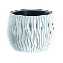 Bloempot met Prosperplast Sandy Bowl DSK180 S449 wit decoratief