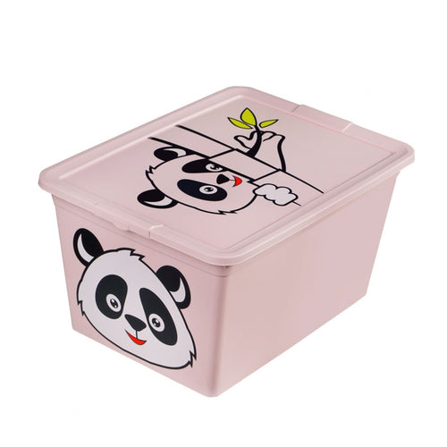 BranQ Container With Lid X BOX DECO Capacity Of 30liters Cover Toys Games Document Box Storage Fox Racoon Tiger Panda Foldable Large Box For Kids