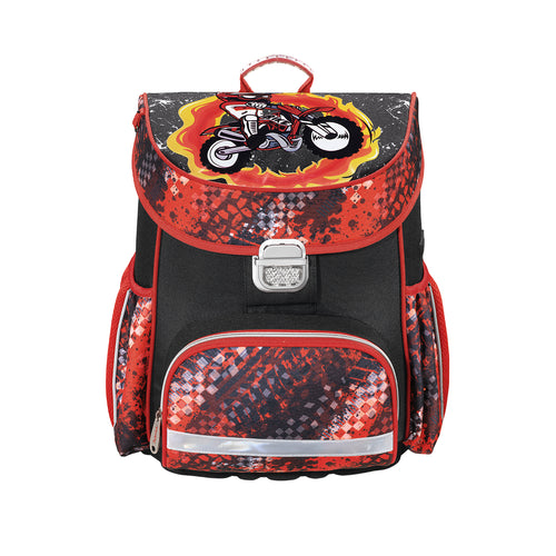 Lightweight schoolbag HAMA MOTORBIKE school backpack ensures the child's correct posture