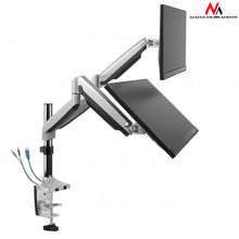 Flat panel steun dubbel arm (x2) met USB Port