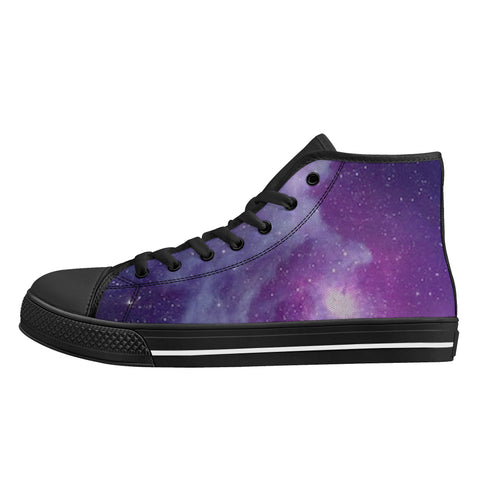 Cosmic MWG High-Top Canvas Shoes - Galaxy Print