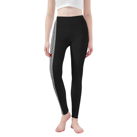 MWG Tire Track Capri Yoga Leggings