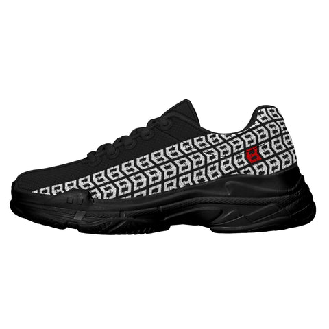 MWG Tire Track Chunky Sneakers - Black