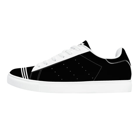 Parkour Low-Top Leather Sneakers - Two tone