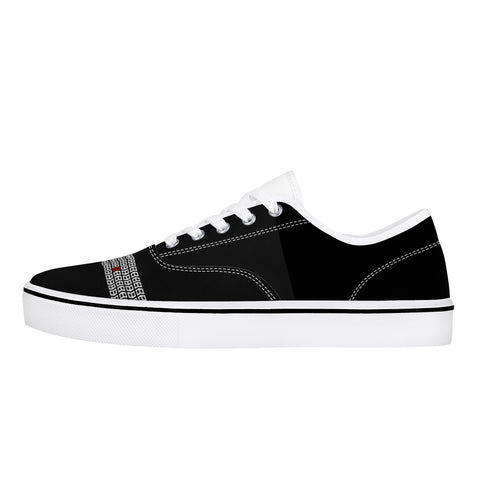 Warrior Life Tire Track Skate Shoe - White on Black