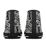 MWG Tribal Print High-Top Canvas Shoes - Black