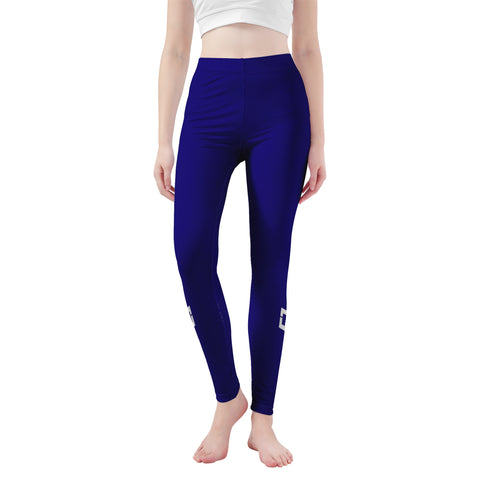 Warrior Life Blue Yoga Leggings