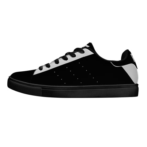 Parkour Low-Top Leather Sneakers - Black Two Tone