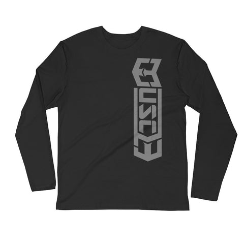 MUSCL3 Front/Back Long Sleeve Fitted Crew - Warrior Life, Ninja Warrior & Parkour Gear