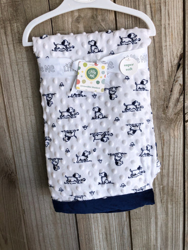Navy Dog Reversible Blanket