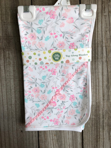 Pink Multi Floral Tag Along Blanket