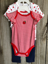 Strawberry 3 Piece Onesie Set
